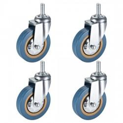4PCS Heavy Duty 3 Inch Castor Wheels