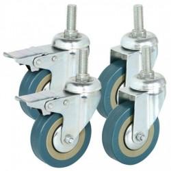4PCS Heavy Duty 3 Inch Castor Wheels Complete Set