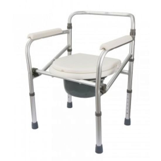 Aluminium Height Adjustable Commode Chair