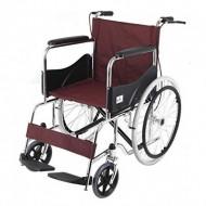 Basic Premium Wheel Chair Chrome Polished-Red