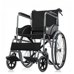 Basic Premium Wheel Chair Chrome Polished-Black