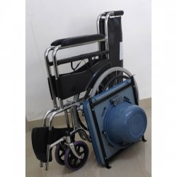 Commode Wheelchair Seat Lift with Attendant Brakes