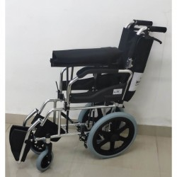 Transit Wheelchair with Flip Up Armrest & Footrest