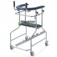Lightweight Aluminum Folding Adjustable Standing Walker For Adults