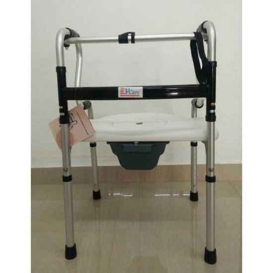Multi Functional Foldable Walker Commode Shower Chair