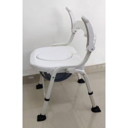 Deluxe Shower Commode Chair with Armrest (Soft Cushion)