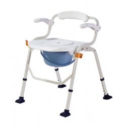 Deluxe Shower Commode Chair with Armrest