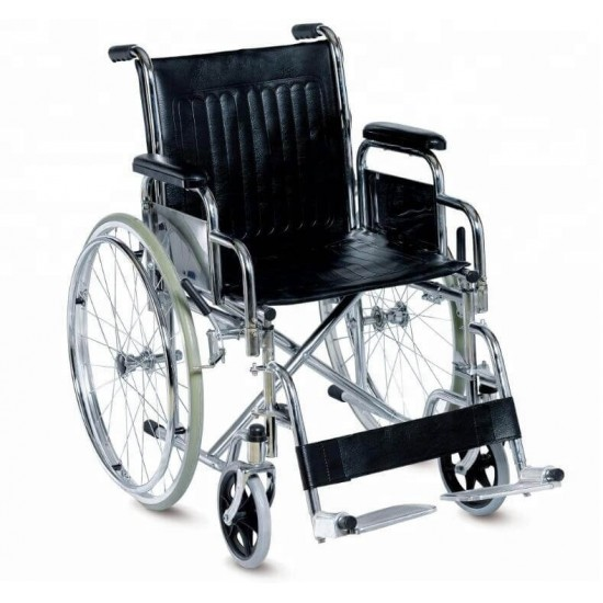 Detachable Footrest With Flip Up Armrest Manual Wheelchair