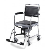 Shower Commode Chair with Folding Frame