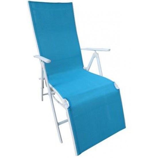 Folding Reclining Chair Leg Frame Blue