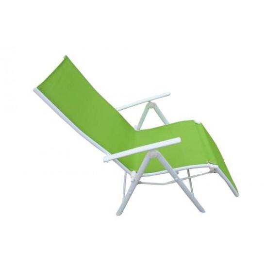 Folding Reclining Chair Leg Frame Green