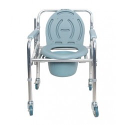 Karma Aluminium Commode Chair Rainbow 11 With Wheels