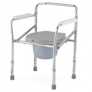 Lightweight Aluminium Folding Height Adjustable Commode Stool