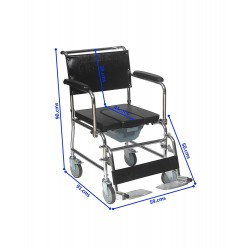 Rolling Shower Commode Chair