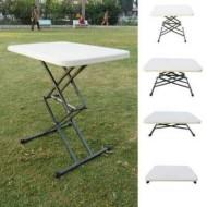 Variable Height Adjustable Folding Table