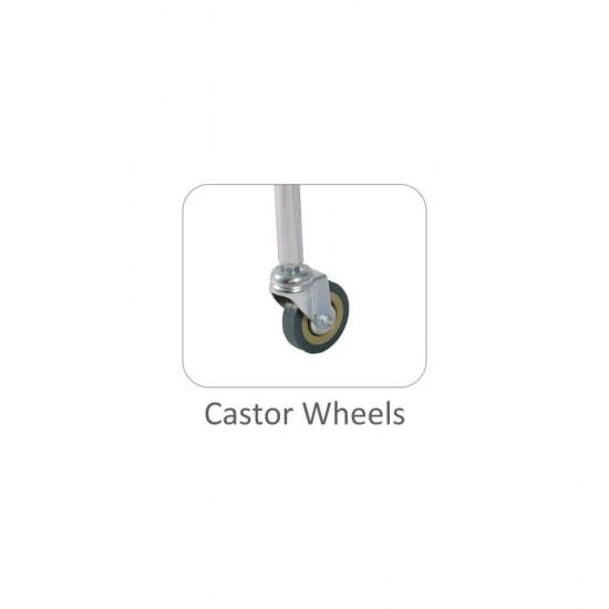 Vissco Comfort Steel Folding Commode Chair With Castors
