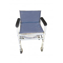 Vissco Invalid Adjustable Commode With Back Rest