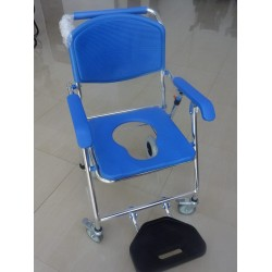Lightweight Foldable Aluminium Shower Commode Chair