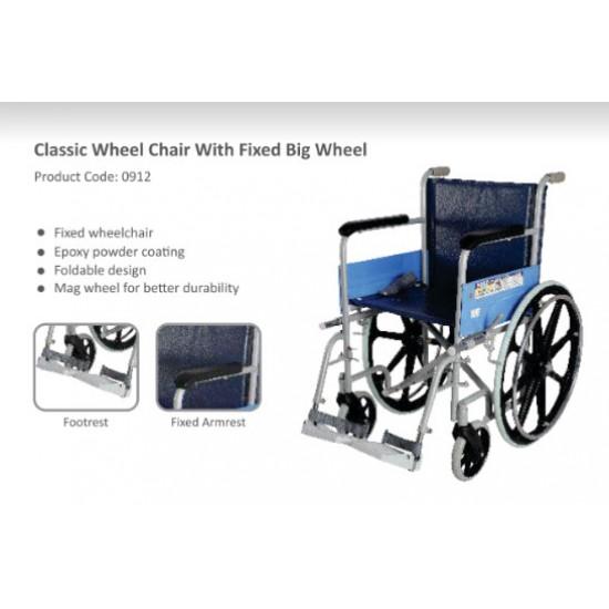 Vissco Classic Wheelchair With Fixed Big Wheels