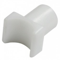 White Nylon Rail Glide for Fixed Arm WheelChair