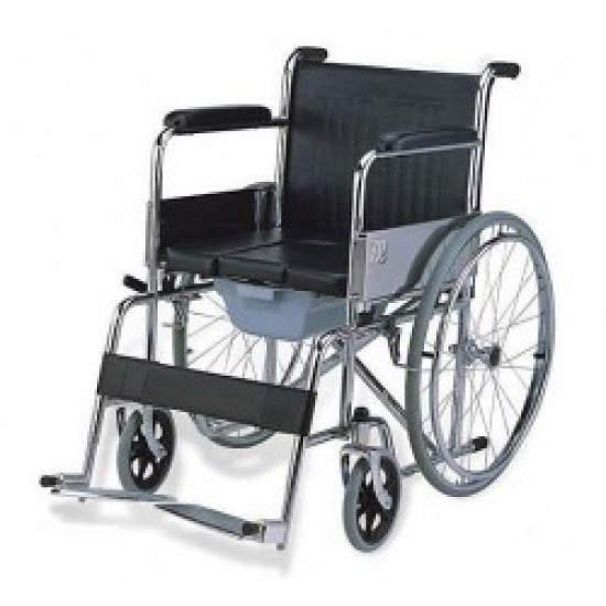 608 Manual Foldable Commode Wheelchair