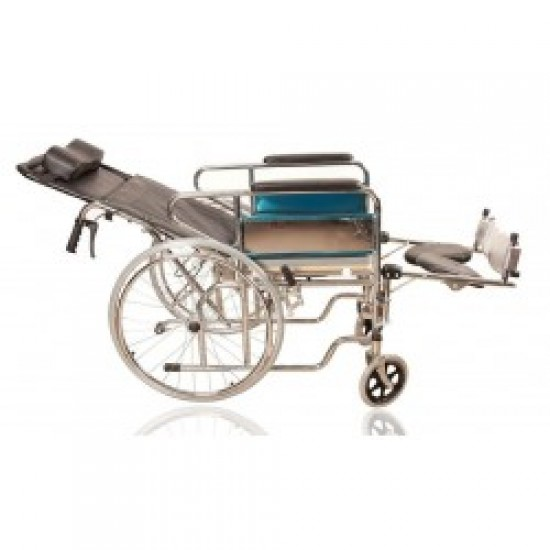 609 GC Reclining Wheelchair With Commode