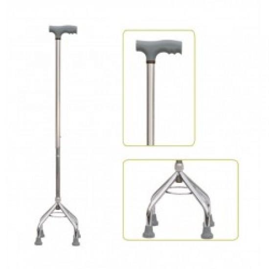 Height Adjustable Quadripod Walking Stick