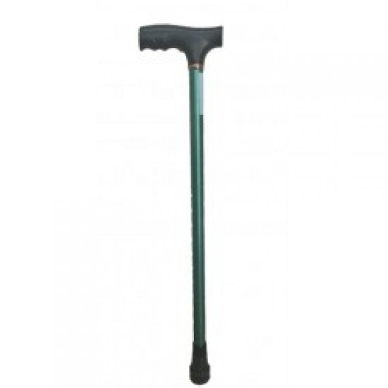 Height Adjustable Walking Stick Green