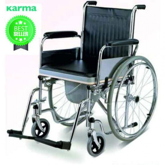 Karma Commode Wheelchair Rainbow-7 With Food Table