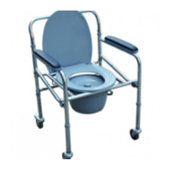 Karma Foldable Commode Chair Rainbow 5 With Wheels