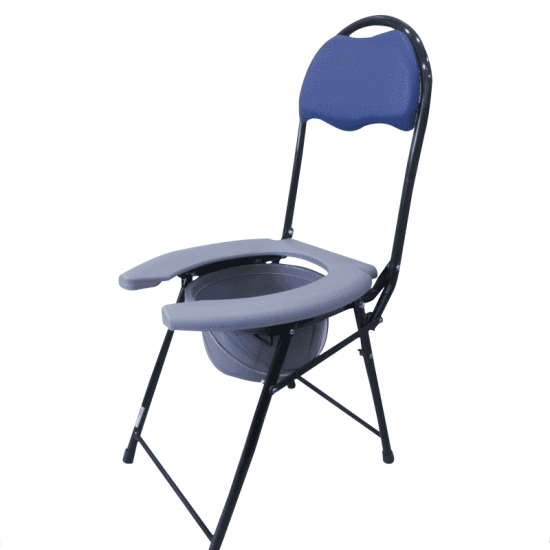 Open Front Commode Chair With Backrest