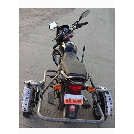 Handicapped Bike Side Wheel Attachment Kit For Bajaj Platina