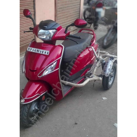 Handicapped Moped Side Wheel Attachment Kit For Hero Maestro