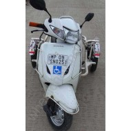 Handicapped Moped Side Wheel Attachment Kit For Activa