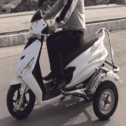 Handicapped Bike Side Wheel Attachment Kit For Hero Maestro Edge