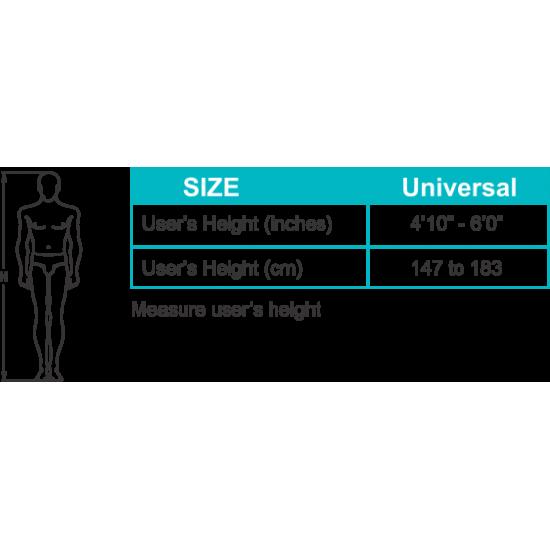 Tynor Height Adjustable Walking Stick Soft Top Handle