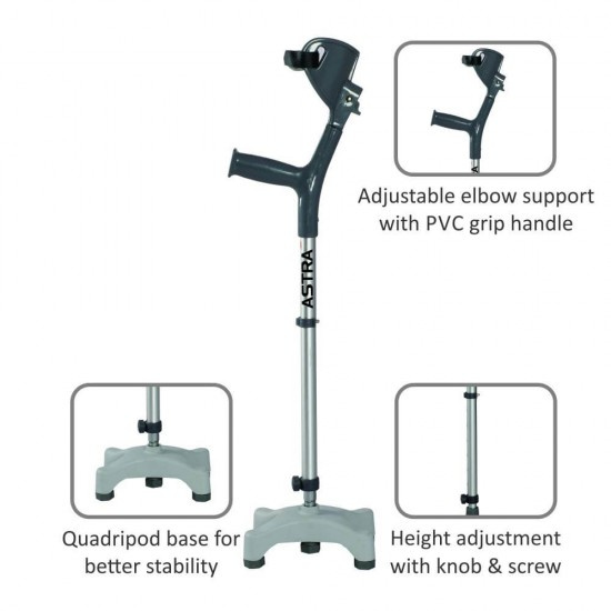Vissco Astra Max Elbow Crutches - Quadripod Base