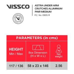 Vissco Astra Under Arm Crutches Aluminium - Medium (1 Pair)