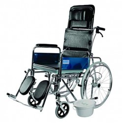Vissco Rodeo Ext Reclining Foldable Manual Wheelchair with Commode